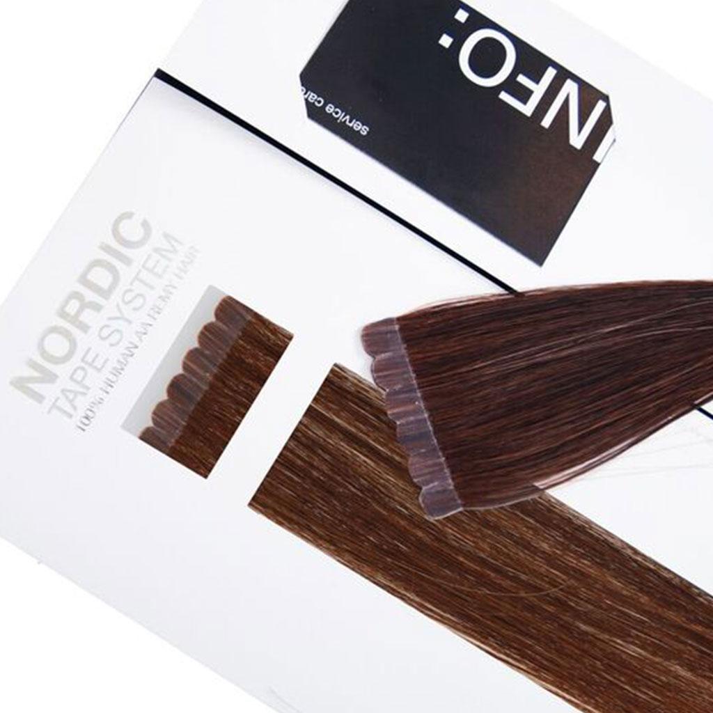 Nordic Tape Hair Extensions 45cm 100 Premium Remy Human Hair
