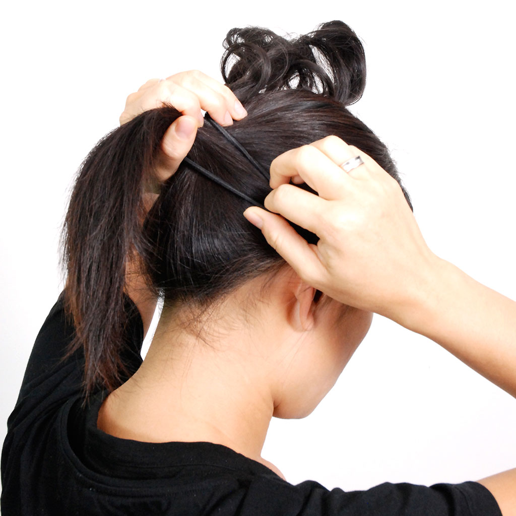 Hair Extensions With Hair Wrapped Around The Hairband For Style And