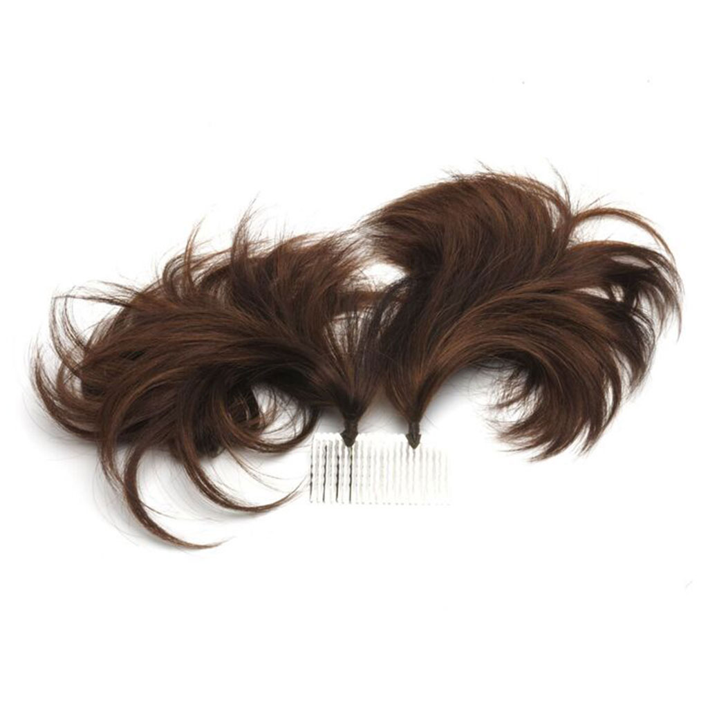 WEDDING Double Tuft Elegant Hair Extensions using Comb for Wedding Style Extra Hair