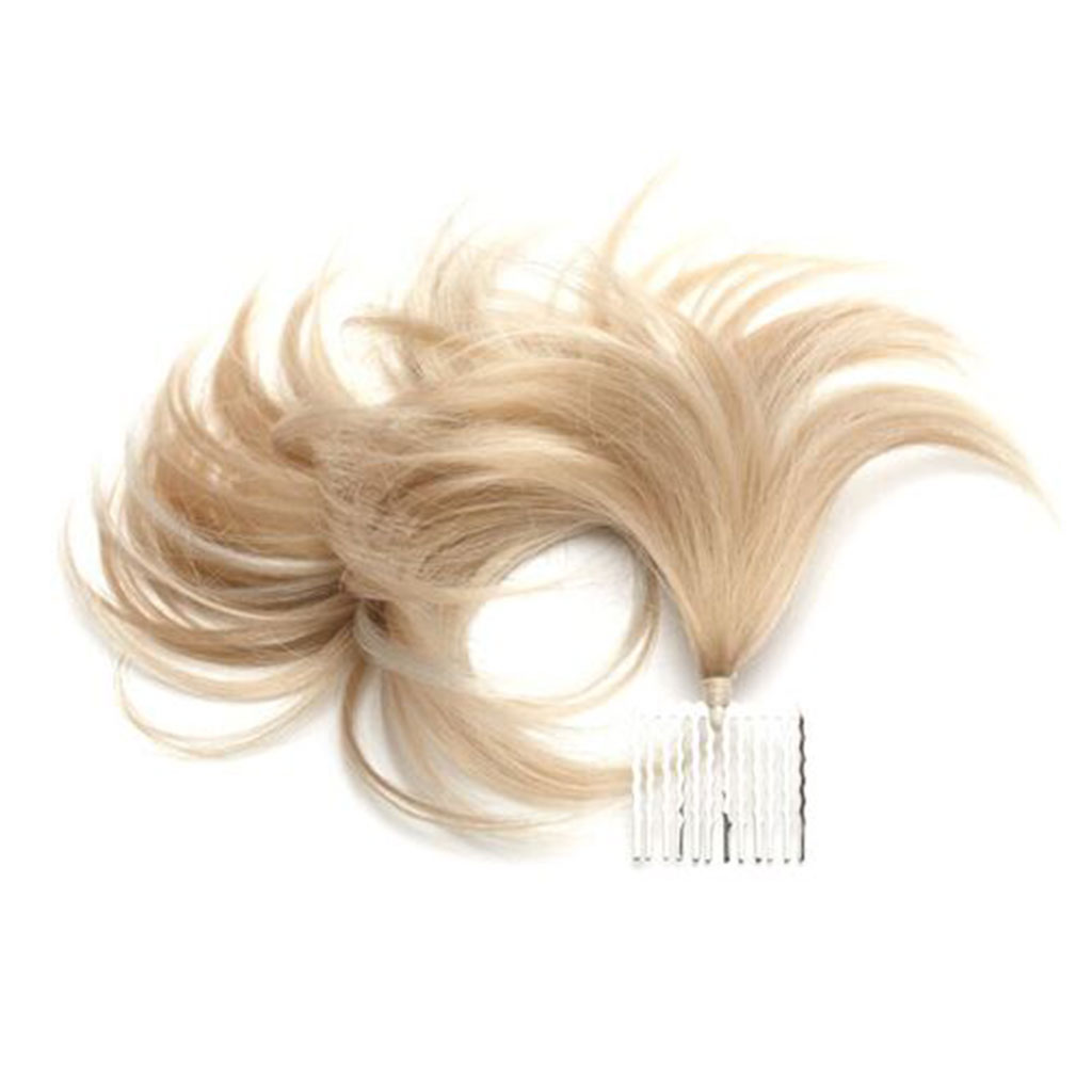 WEDDING Single Tuft Elegant Hair Extensions using Comb for Wedding Style Extra Hair